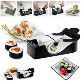 Wholesale Wholesale Machining Tools - SuShi Maker Newest DIY Sushi Roller Cutter Perfect Machine Roll Magic Rice Mold Maker Kitchen Accessories Tools Gadgets drop shipping