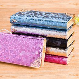 Wholesale Finish Standards - TOP Fashion Women long wallet Stone Pattern Purse Metallic Finishing PU Clutch Multifunction Money Bag Bank Card Holder 1PCS Free Shipping