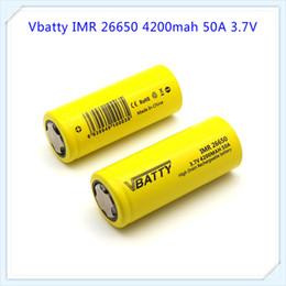 Wholesale Lithium Battery Bank - Vbatty 26650 4200mAh 50A 3.7V li-ion lithium High drain battery for vape mod for 26650 power bank