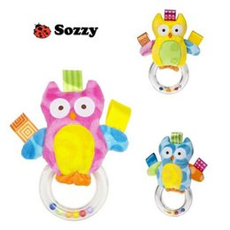 Wholesale Owl Infant Toys - Wholesale- 2016 Baby Rattle Toys Owl Hand Bells Infant Appease Toys Super Baby Puzzle Toy Superior Quality Free Shipping