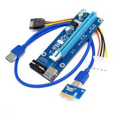 2019 электронная силовая машина PCIe PCI-E PCI Express Riser Card 1x на 16x USB 3.0 кабель для передачи данных SATA на 4Pin IDE Molex Блок питания для BTC Miner Machine бесплатная доставка дешево электронная силовая машина