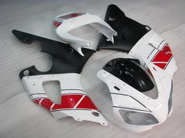 Wholesale 98 R1 Fairings White Black - Plastic Fairings YZF1000 R1 1999 ABS Fairing YZFR1 98 White Black Full Body Kits for YAMAHA YZFR1 99 1998 - 1999