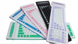 Wholesale Wireless Flexible Keyboards - Portable 2.4G Wireless Silicone Soft Keyboard 107 key Flexible Waterproof Folding Keyboard Pocket Rubber Keyboard for PC Laptops