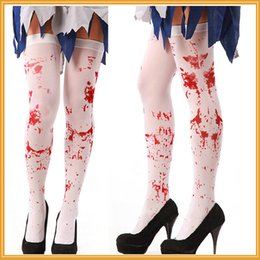 Wholesale Hot Cosplay Spandex - 2017 Hot Sales Halloween Party Women Scary Bleed or Skeleton Occupational Stockings Tights Cosplay Female Costumes Hosiery