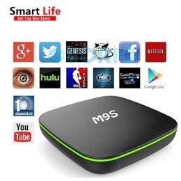Wholesale Allwinner Android Box - M9S V6 IPTV Box Allwinner H2 Quad-Core Andorid4.4 1G+8G Streaming Media Player Fully loaded add-ons android ott tv boxes VS MXQ MXQ-4K