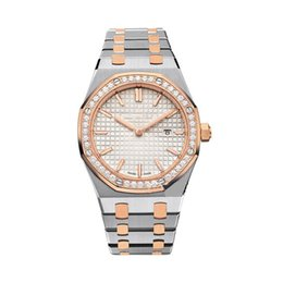 Wholesale Lady Models - Luxury Brand Women Watches 33mm Classical Model Antique Wristwatches High Quality Gold Silver Stainless Steel Quartz Lady Watches With Diamo