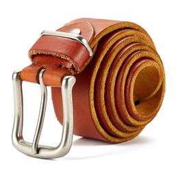 Wholesale Men Design Belts - top cow genuine leather men belts 2018 newest arrival three color hot design jeans belt for male original brand