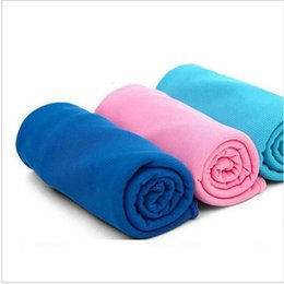 Wholesale Bamboo Scarves - Color Magic Cold Towel Exercise Sweat Summer Ice Towels Fitness Sweat Summer Ice Towel Outdoor Sports Cool Ties Neck Scarves in sport