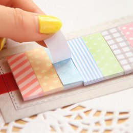 Wholesale page flags - Wholesale- Cute 160 Pages Sticker School Supplies Memo Flags Mini Sticky Notes Memo Pad Girls Gifts