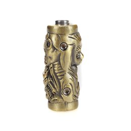 Wholesale Tattoo Bronze - Wholesale-SB003 Skull Individuality Tattoo Grip Non-slip Bronze 22mm Zinc Alloy Tattoo Machine Grips With Set Screws & Tube Supply