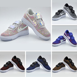 Wholesale Air Forces Shoes - With Box 2017 New Lunar Force 1 Kids Running Shoes Force One Duck Boot Kids Sports Boots Casual Sneakers