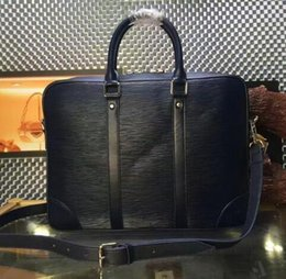 Wholesale Top Mens Business Briefcases - Top quality business briefcase tote mens bag with strap PORTE-DOCUMENTS VOYAGE handbag laptop bag N41478