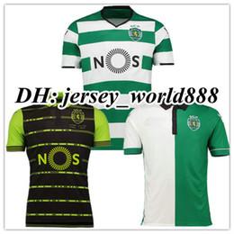 Wholesale Home Sports Shorts - Top Thai quality 17 18 Sporting Lisbon Home Soccer Jersey camisas de futebol 2017 Luis Figo Nani TEO Slimani William away football shirts