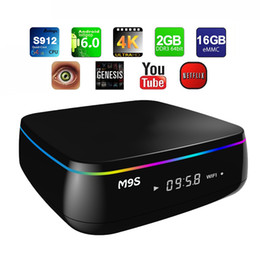Net numérique en Ligne-M9S Mix Digital TV Box Android 6.0 S912 Boîtes Octa Core 2 Go 16 Go 16,1 Wifi 2,4 GHz 5 GHz Bluetooth 4.0 KD16.1 Media Streaming Box 1000M NET