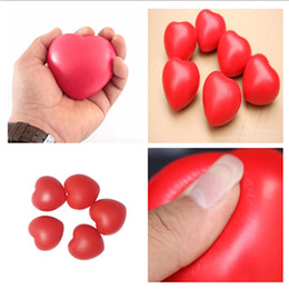 Massage & Relaxation Beauty & Health Nice Heart Shaped Exercise Stress Relief Squeeze Elastic Rubber Soft Foam Ball Heart Shaped Stress Relief Ball