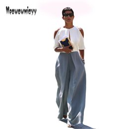 Wholesale Pantalones Mujer - Wide leg pants pantalones mujer 2017 women pants summer fashion high waist plus size loose trousers women