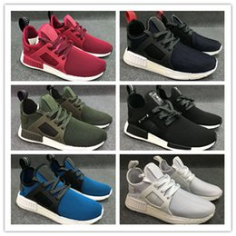 Wholesale Light Yellow Colour - new NMD Runner Primeknit XR1 running shoes top multiple Colour man women shoes zebra stripes red blue sport shoes Runings nmd R1 sneaker