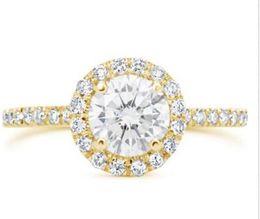 Wholesale Diamond Ring Vs1 - 1.81 Ct Round Cut Simulation Diamond Engagement Ring Enhanced VS1 D 14K Yellow Gold