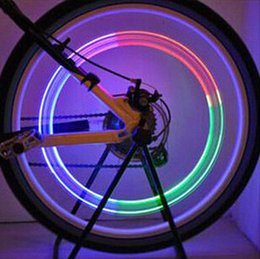 Wholesale Accessories Whosale - Whosale Firefly Spoke LEDs Wheel Valve Stem Cap Tire Motion Neon Light Lamp For Bike Bicycle Accessories MOQ=50PCS