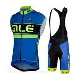 Wholesale Mountains Cycle Jersey - ALE Pro Men Sleeveless Vest Cycling Jersey Set Mountain Bike Bicycle Sportwear MTB Clothes Ropa Ciclismo Shirts D0713