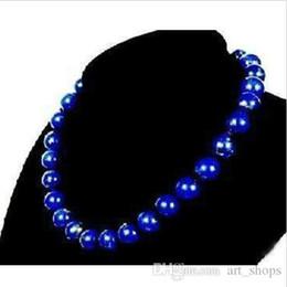 Wholesale Egyptian Lazuli Lapis - Stunning!10mm Egyptian Lapis Lazuli Necklace AAA 18''