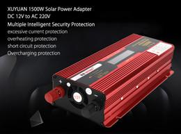 Wholesale Inverter Solar System - XUYUAN Car Vehicle 1500W DC 12V to AC 220V LED Display Solar Power Inverter Power Supply Adapter Converter System 189966201