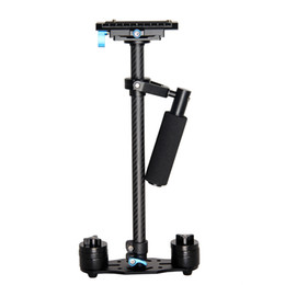 Wholesale Mini Handheld Stabilizer Cameras - YELANGU S60T Professional Portable Carbon Fiber Mini Handheld Camera Stabilizer DSLR Camcorder Video Steadicam Better than S60