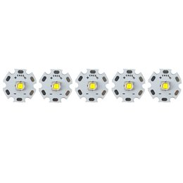 Wholesale Cree Xml2 - Wholesale- 5pcs Cree XM-L2 U3 1A Cool White 6500k cree xml2 LED Emitter High Power LED Emitter Bulb with 20mm Heatsink Electronic diy parts