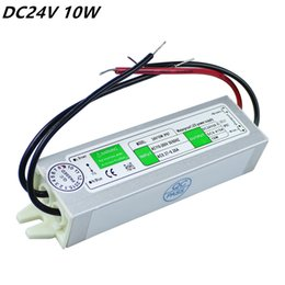 Wholesale Electronic Transformer For Led - High quality DC 24V 10W IP67 Waterproof LED Power Supply AC100-240V Input Electronic LED Driver Transformer for LED Light Strips