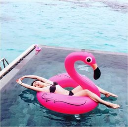 Wholesale Inflatable Mount - Inflatable Floats Tubes Inflated Flamingo Swim Ring Water Supplies Mount Toy Swan Life Buoy Cute Cartoon Popular 23jr