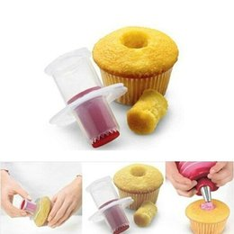 Wholesale Kitchen Cupcake Cake Corer Plunger - Cupcake Cake Corer Plunger Cutter Pastry Decorating Divider Mold Creative DIY Cake Mold Wholesale Kitchen Tools