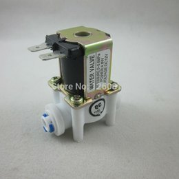 """Wholesale Reverse Osmosis Systems - Wholesale-DC 12V 1 4"""" Inlet Feed Water Solenoid Valve Quick Connect for RO Reverse Osmosis Pure System"""