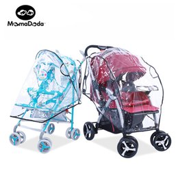 Wholesale Rain Cover Baby - Wholesale- Organizer Rain Covers Baby Car Windscreen Dust Cover Universal Waterproof Baby Carriage Accessories Pram Stroller Accessories