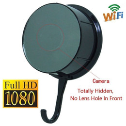 Wholesale free hidden ip camera - Free DHL 1080P HD Spy Wireless Hidden camera WIFI IP P2P Cloths Hook Cam Video Baby monitor security Hidden camera DVR Recorder
