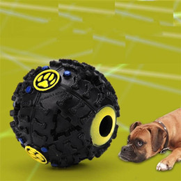 Wholesale Dog Squeaker Ball - Dog Toys Pet Puppy Sound ball leakage Food Ball sound toy ball Pet Dog Cat Squeaky Chews Puppy Squeaker Sound Pet Supplies Play