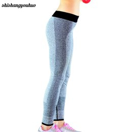 Wholesale Womens Fitness Wholesale Clothes - Wholesale- 2017 New Fashion Sexy High Waist Stretched Clothes Spandex Womens Leggings Fitness Active Pants