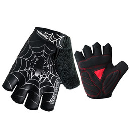Wholesale Spider Man Gloves - Qepae Washable Cycling Gloves Men Sports Half Finger Anti Slip Bike Gloves Shockproof Breathable Pads Black Climbing Spider-Man