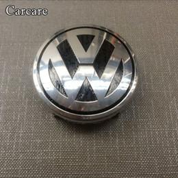 Wholesale Volkswagen Steering Wheels - 1piece Car Styling Airbag Cover Badge For VW Volkswagen Steering Wheel Emblem AirBag Cover Logo Free Shipping