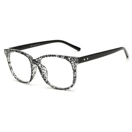 Wholesale Fake Glasses Frames - Wholesale- Vintage Clear Lens Eye Glasses Frames For Men Women Transparent Fake Gasses Round Optical Eyeglasses Nerd Eyewear Spectacle