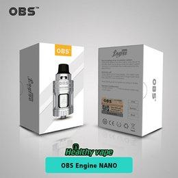 Wholesale Electronic Engine - Original OBS Engine Nano RTA 5.3ml Capacity Rebuiltable Tank Vaporizer 510 Thread Atomizer Electronic Cigarette