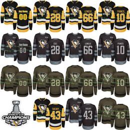 Wholesale Mario Customs - Custom Mens Womens Kids 2017-2018 New Logo Pittsburgh Penguins 10 Ron Francis 28 Ian Cole 43 Conor Sheary 66 Mario Lemieux Hockey Jerseys