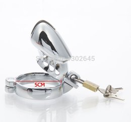 Wholesale Large Sex Cage - Plus Size Large Stainless Steel Chastity Lock Taste Male Chastity Device Penis Cage Sleeve Sex Toys S M L