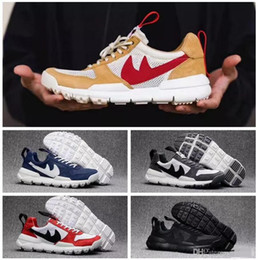 Wholesale Vintage Shoes For Men - 2017 Tom Sachs x Craft Mars Yard 2.0 TS NASA Running Shoes For Men Natural Red Crafts Sports Sneakers Designer Shoes Zapatillas Vintage Shoe