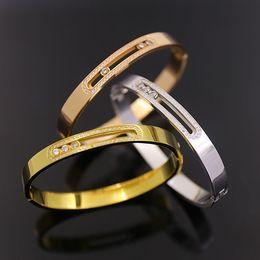 Wholesale Ol Set - hot brand titanium steel 18k gold love bracelets bangles wheat Sika OL wind stone titanium T bracelet workplace snap tricolor
