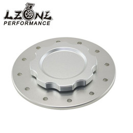 Wholesale Surge Tanks - Wholesale- LZONE - Billet Aluminum Fuel Cell Surge Tank Cap with 12 bolting holes with 3'' I.D.Opening For RI fuel cells JR-SLFCC-01SL