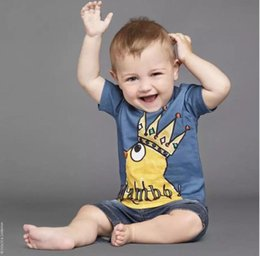 Wholesale 2017 hot INS baby boys T shirts fashional image printed Chicken Crown cotton short sleeve boys shirts for cm