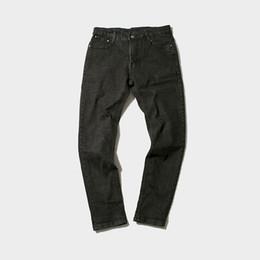 Wholesale Korean Boy Jeans - Wholesale- Korean Designs Fashion Jeans Men Black Gray Stretch Men's Denim Pants Casual Slim Fit Mens Bikers Jeans Boys Brand Male Trousers