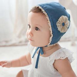 Wholesale Infant Summer Bucket Hats - New Girls Kids Hats Flower Beanie Kids Lace Princess Caps Hats Baby Infant bucket hat Children