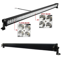 Wholesale Led Lighting For Auto Trucks - 52 inch 400W Led Working Light Bar Combo Beam for Offroad Truck Jeep Ford 4WD Boat Trailer 4x4 ATV SUV 10-30V Auto Lamp (without Wiring Kit)