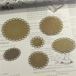 bronze base Australia - BoYuTe 50Pcs 12-14-16-18-20-25-30MM 13*18-18*25MM Hot sale Bronze Cameo Cabochon Base Setting Diy Jewelry Accessories Blank Tray Parts